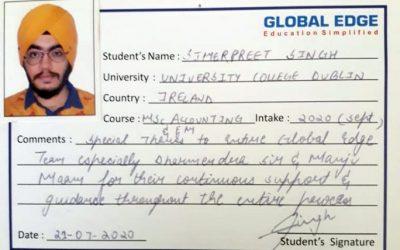 Testimonial-Simerpreet Singh, Sep'20